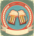 Vintage beer label vector