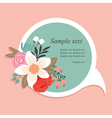 Speech bubble with flowers vector