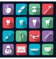Dental icons flat vector