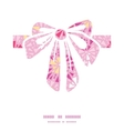 Pink abstract triangles gift bow silhouette vector