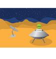 Alien planet vector