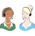 Customer support operators vector