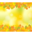 Autumn yellow frame vector
