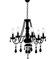 Decorative chandelier vector