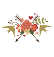 Floral festive design with birds vector