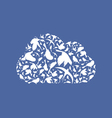 Cloud a bird vector