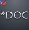 Doc file extension icon symbol 3d style trendy vector