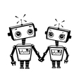 Robots in love vector