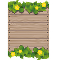 Yellow flowers and fence vector