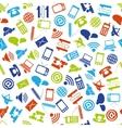 Communication seamless pattern vector