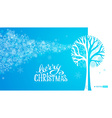 Blue winter tree background vector