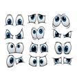 Funny cartoon eyes set vector
