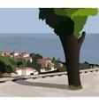 The town of balchik bulgaria vector