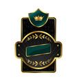 Royal label with golden frame vector