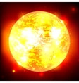 Exploding planet vector