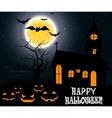 Halloween party on full moon vector