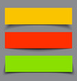 Set of paper colorful banners with shadows vector