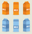 Milk boxes collection vector
