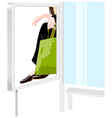 Person with shopping bag vector