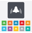 Alarm bell sign icon wake up alarm symbol vector