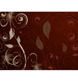 Vintage pattern red brown vector