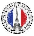 Paris town in france grunge flag stamp vector
