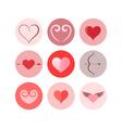 Heart icon set vector