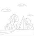 Landscape forest contours vector