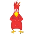 Funny parrot cool vector
