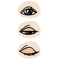 Three phases of a blinking eye eps 10 vector