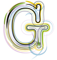 Organic font letter g vector