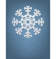 Christmas origami snowflake  eps8 vector