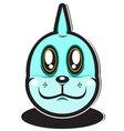 Cute blue water element cartoon monster vector