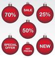 Sale christmas ball vector