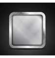 Mobile app icon - empty metallic texture box vector