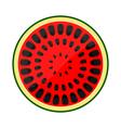 Icon half of watermelon vector