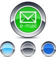 E-mail round button vector