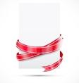 Promo tag red ribbon vector