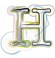 Organic font letter h vector