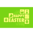 Happy easter collage background vector