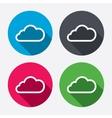 Cloud sign icon data storage symbol vector