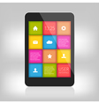 Colorful design for mobile and tablet vector