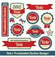 Retro vote stickers vector