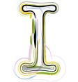 Organic font letter i vector