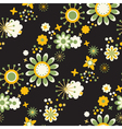 Seamless pattern of decorative flowers vector
