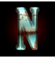 Old metal letter vector