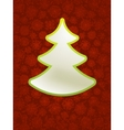 Christmas applique with tree  eps8 vector