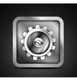 Mobile app icon - metallic gear icon design vector