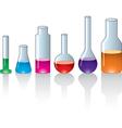 Laboratory glassware vector