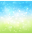Summer bokeh light background vector